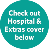 Green badge for hospital & extras cover