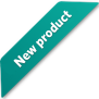 Green ribbon for new product badge