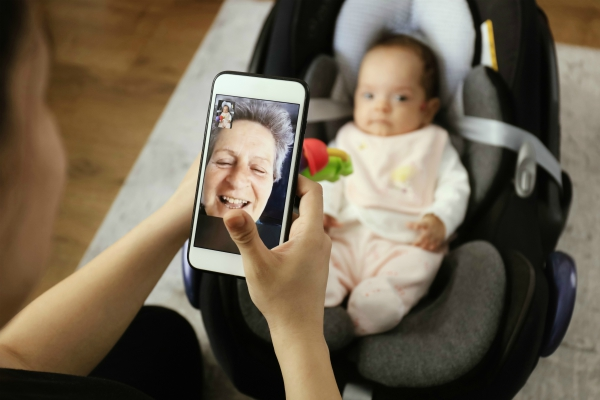 Grandmother using Facetime with Grandchild